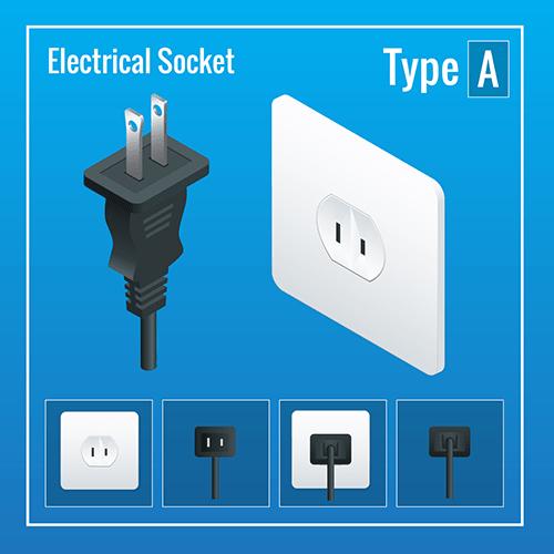 Japan power plug socket type A