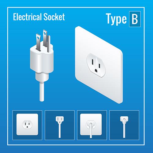 thailand power plug socket type B