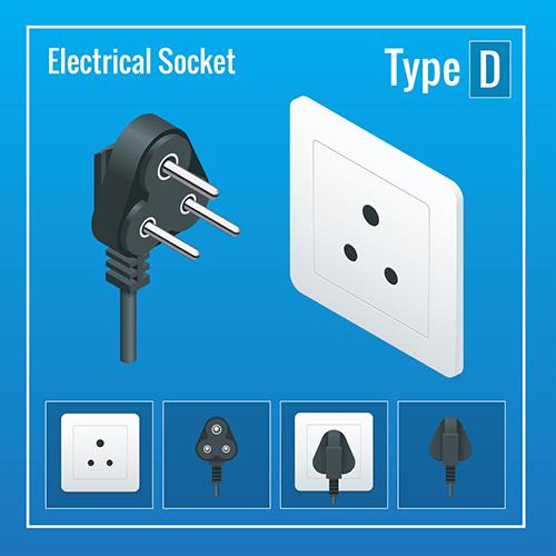 dubai power plug socket type D