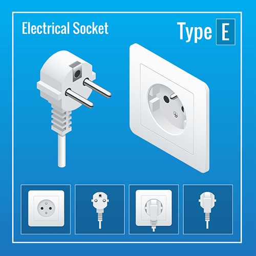 Denmark power plug socket type E