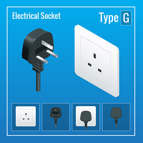 Ireland power plug socket adapter