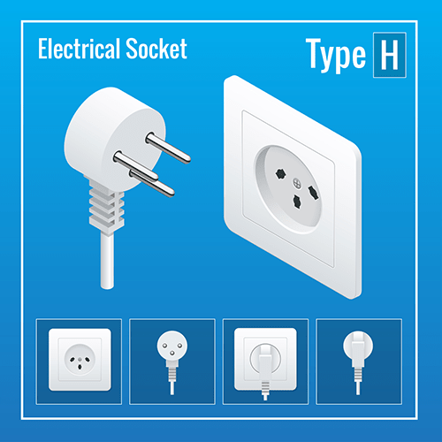 Denmark power plug socket  type H