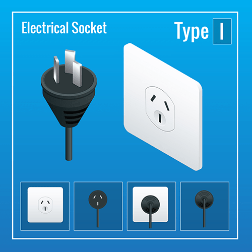 Australia power plug socket type adapter