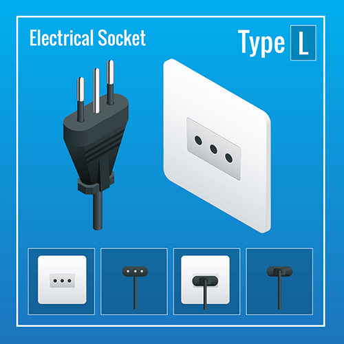 Ethiopia power plug socket typeL