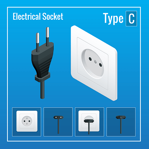 Russia power plug socket type c