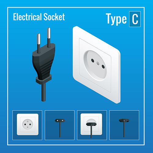 Netherlands power plug socket type c